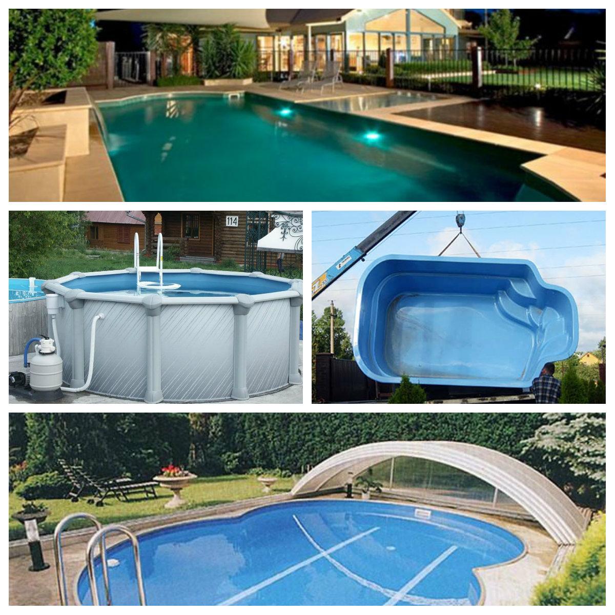 виды строительства бассейна