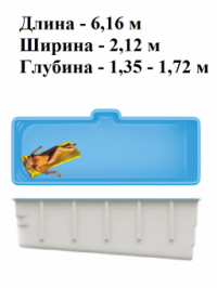 Композитный бассейн SwimTrack 61